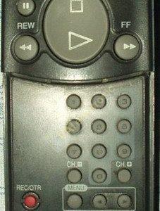 Пульт для Daewoo VCR 2 DV-F DV-G (фото пульта)
