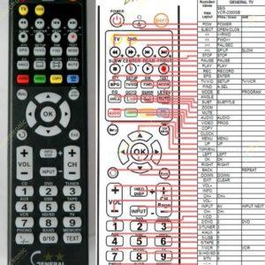 Пульт для SEG VCR-2380 (фото пульта)