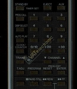 Пульт для Seg VCR Techline (фото пульта)